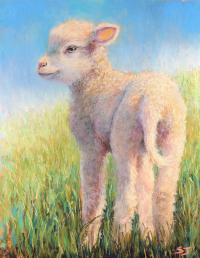 Behold The Lamb Painting by Susan Jenkins