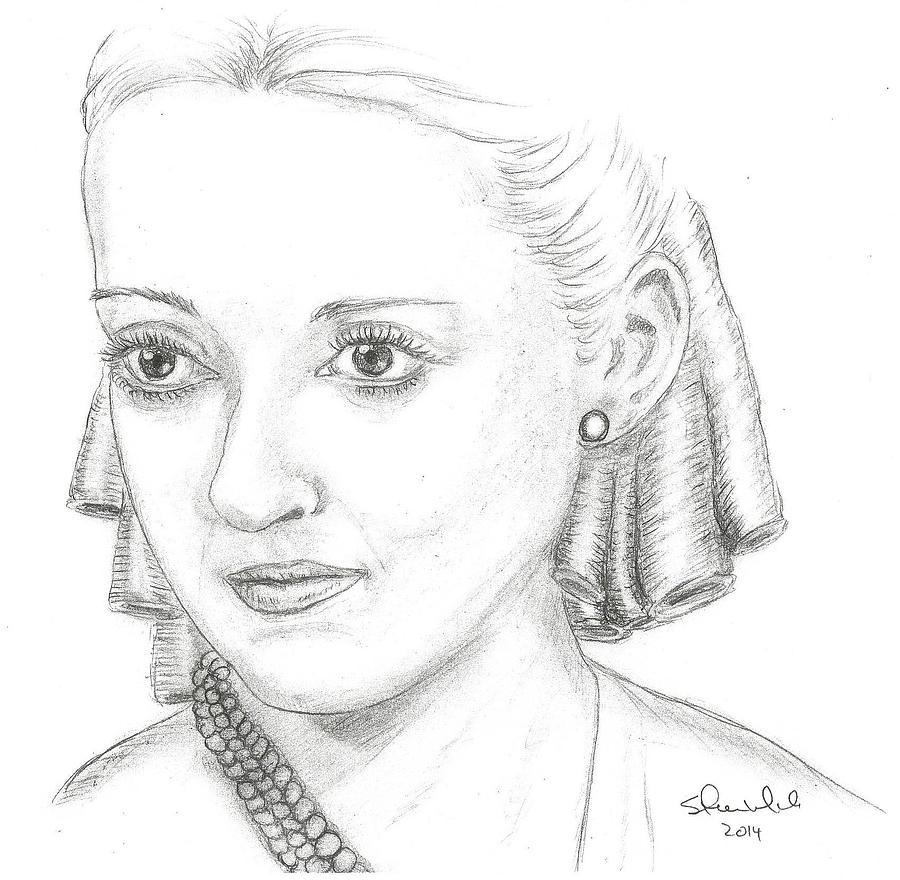 Bette Davis Drawing by Steven White