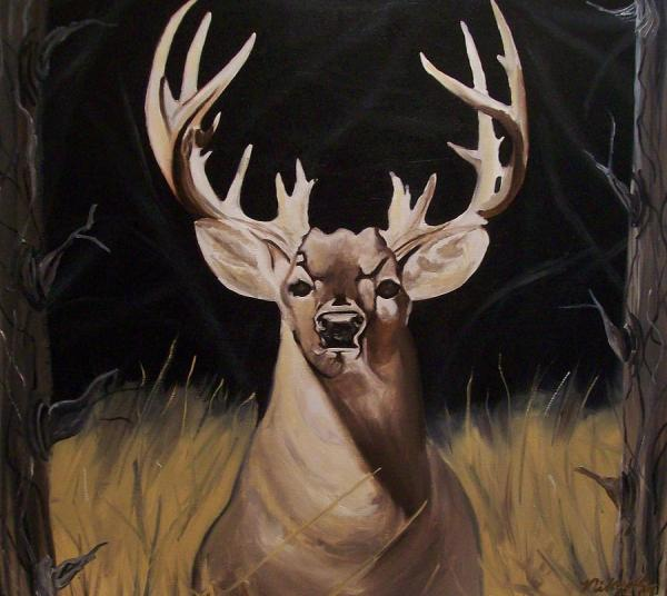 Big Whitetail Buck Paintings