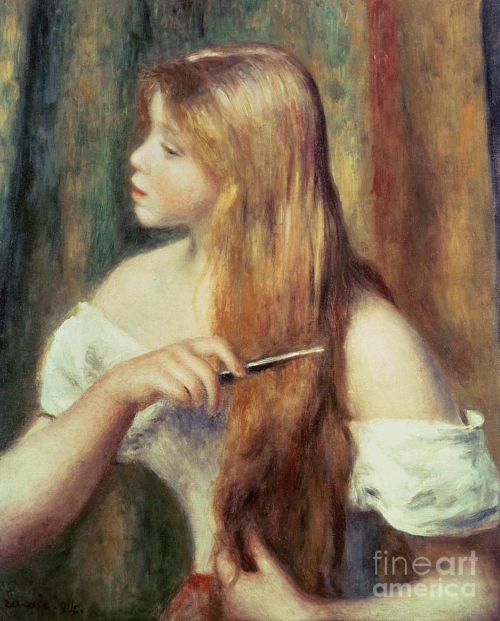 Blonde Painting : blonde, painting, Blonde, Combing, Painting, Pierre, Auguste, Renoir