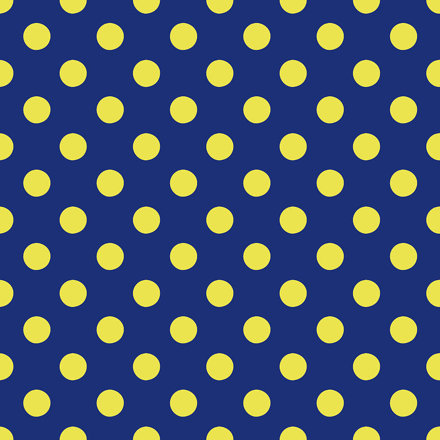 pics Blue Yellow Polka Dots blue and yellow polka dots art by