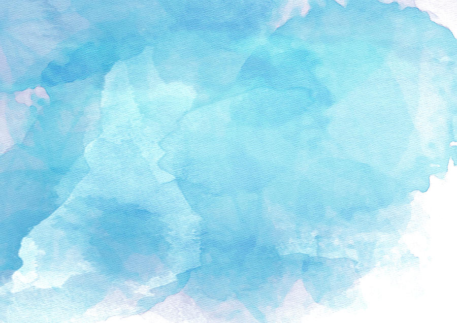 blue watercolor background by