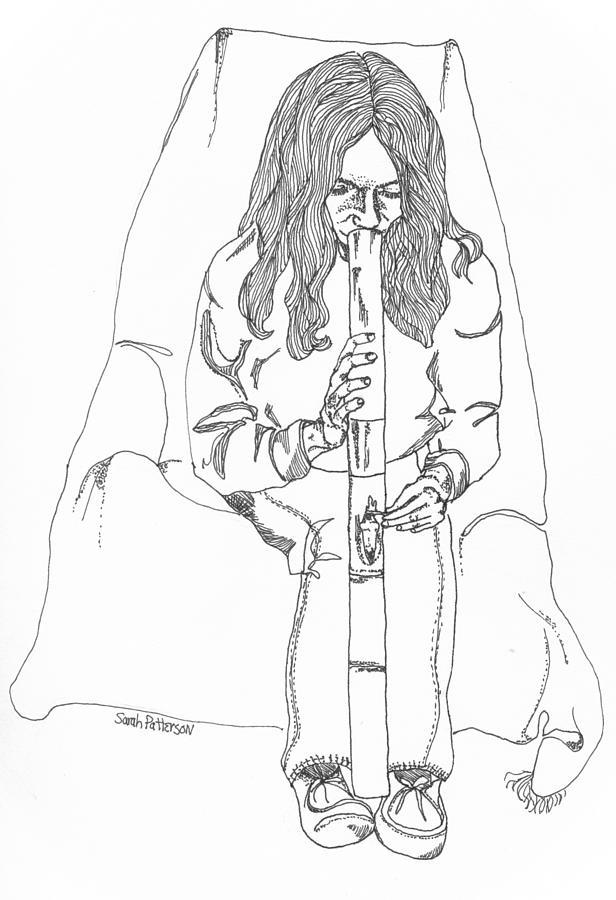 Bong Time Drawing by Sarah Hamilton