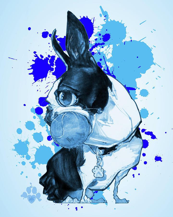 Paint Splatter Drawing : paint, splatter, drawing, Boston, Terrier, Paint, Splatter, Drawing, LaFree