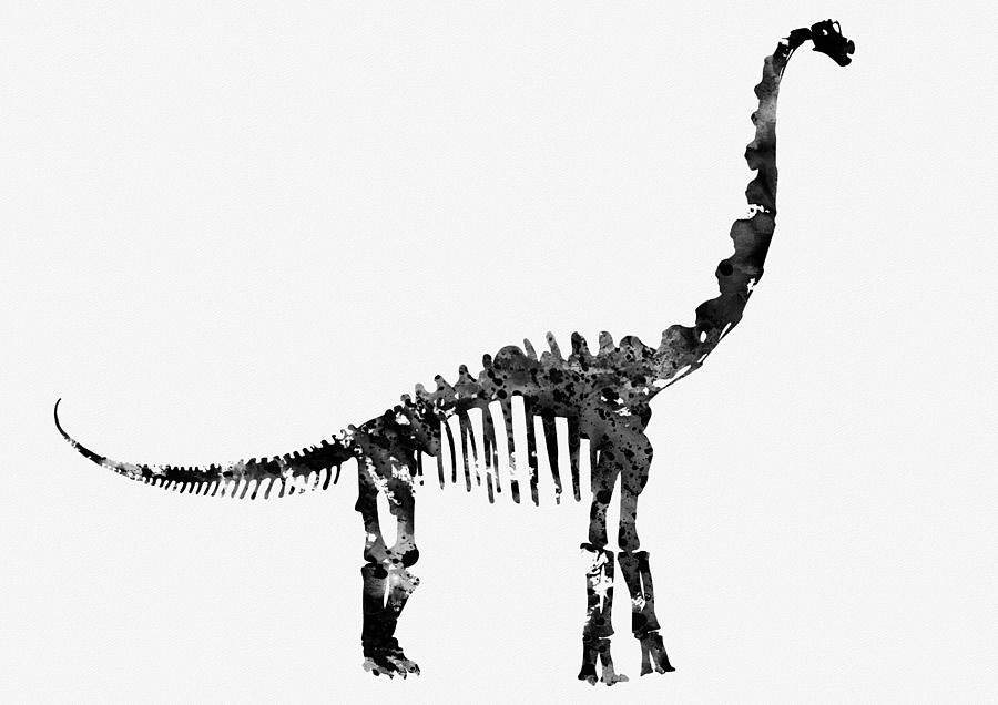 Brachiosaurus skeleton Digital Art by Erzebet S
