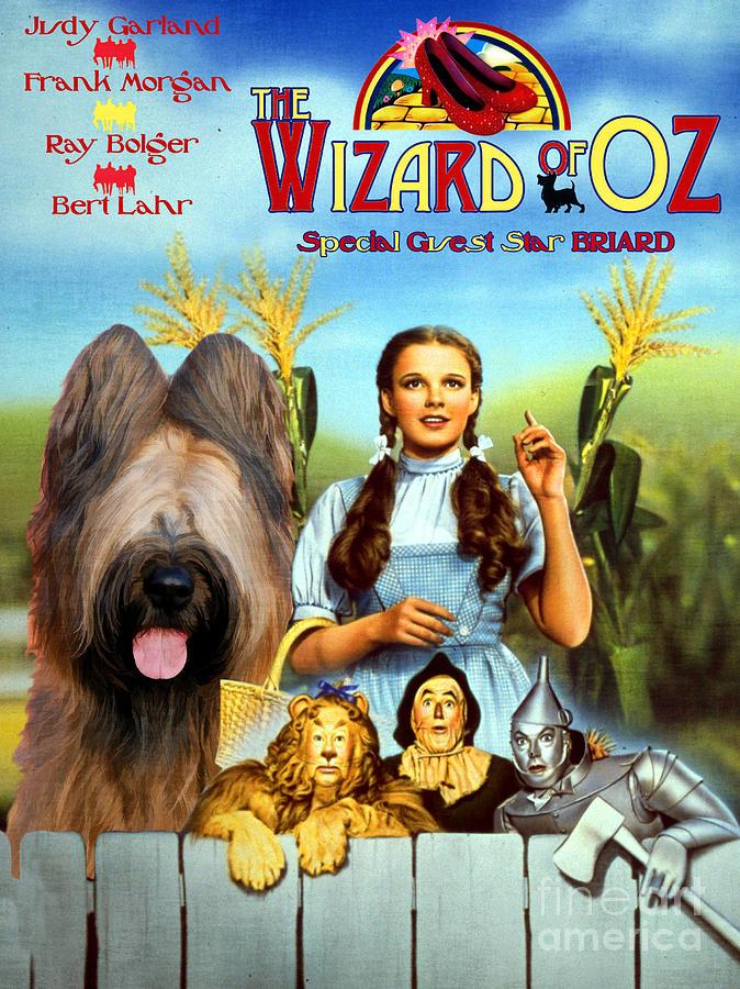 briard art canvas print the wizard of oz movie poster by sandra sij