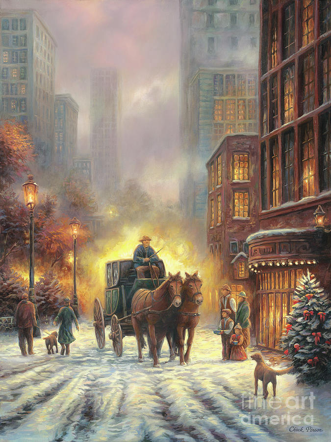 Carriage Ride Painting By Chuck Pinson