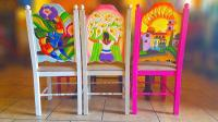 Carved Hand Painted Mexican Chairs Photograph by Art Spectrum