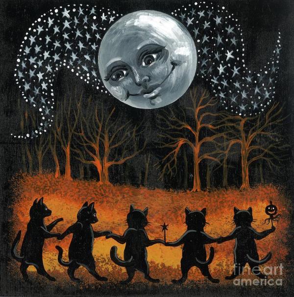 Vintage Halloween Art Painting