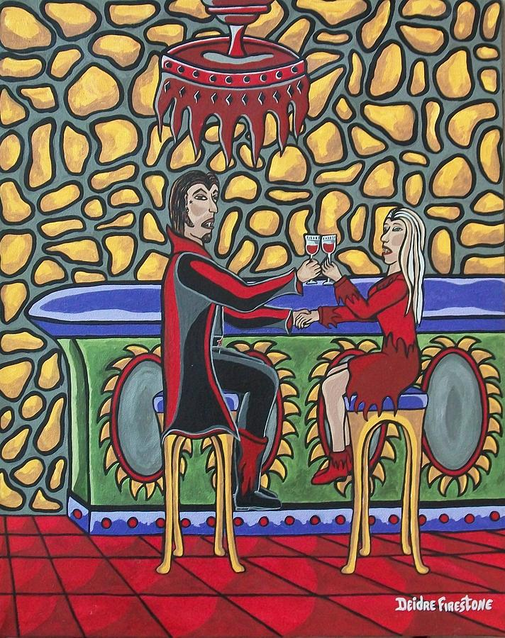 Cheers Up My Bloody Valentine Painting By Deidre Firestone