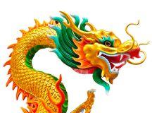 Chinese Beautiful Dragon Isolated On White Background ...