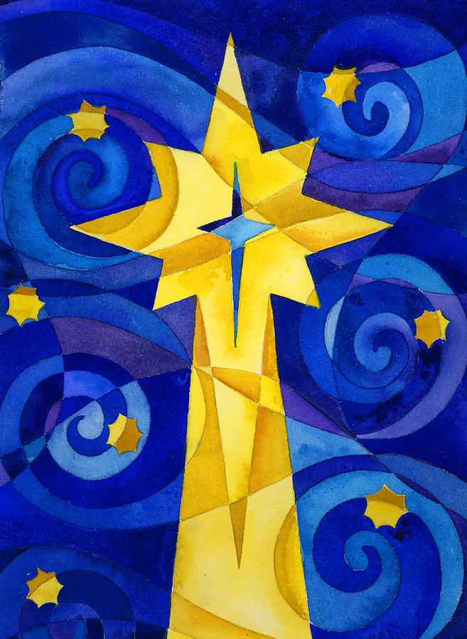 Christmas Star Painting By Mark Jennings