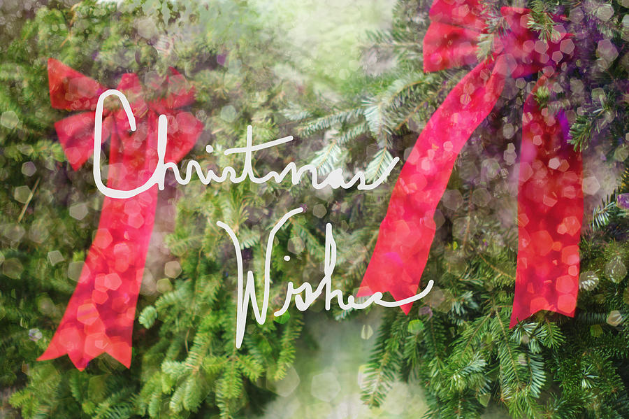 christmas wishes wreaths with