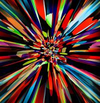 Color Explosion Painting by Natalie Holland