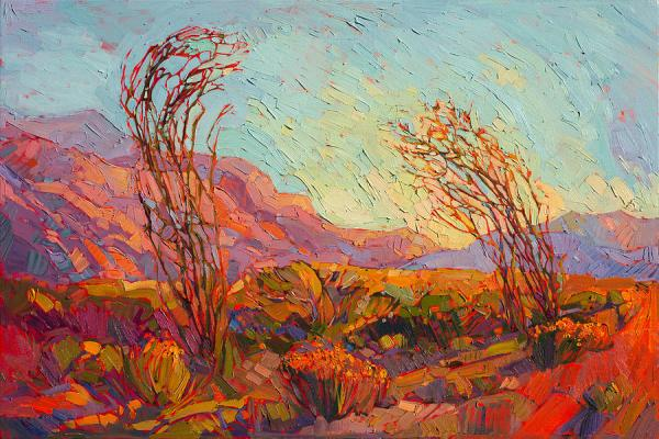 colors of ocotillo painting