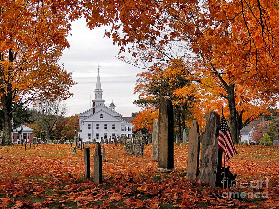Fall Schoolhouse Wallpaper Country Church Photograph By Janice Drew