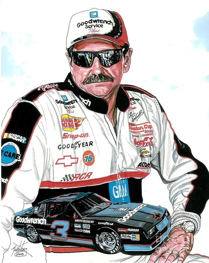 Dale Earnhardt Jr Wallpaper For Iphone Dale Earnhardt Drawing By Neal Portnoy