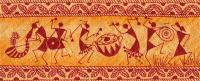 Dancing Warlis Painting by Subhash Limaye