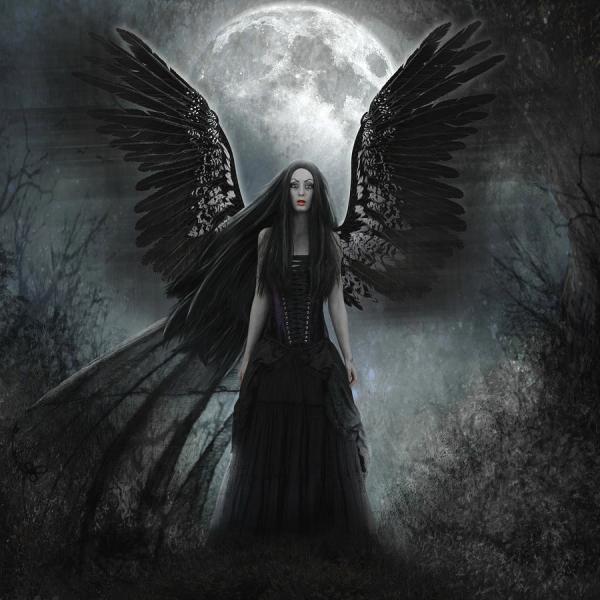Dark Angel Digital Art Karin Claesson