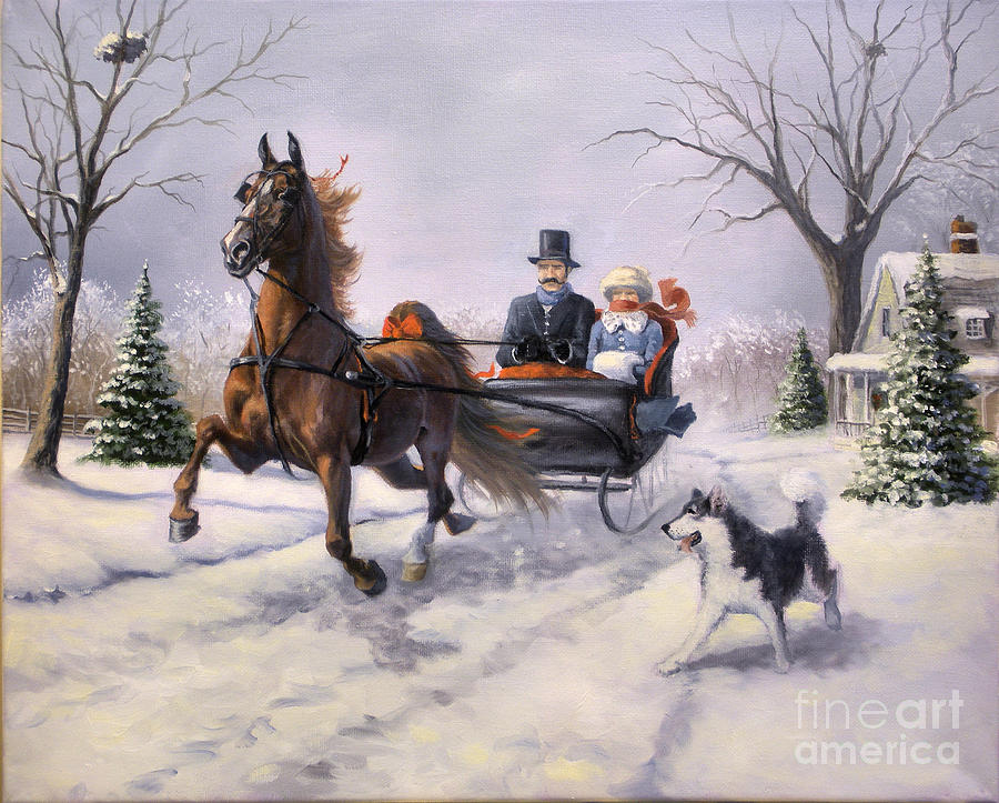Dashing Through The Snow II Painting By Jeanne Newton Schoborg