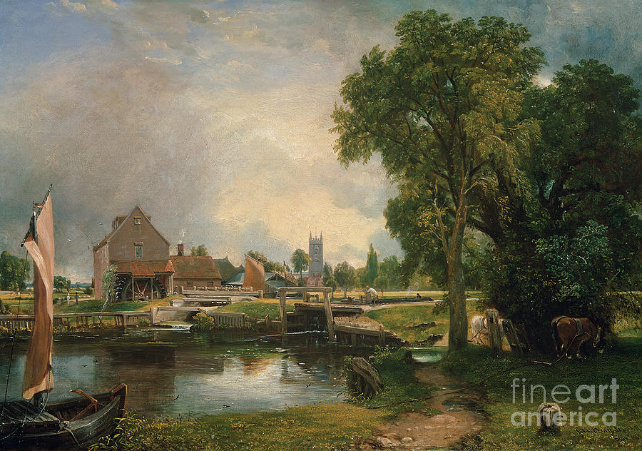 Dedham Lock And Mill Painting by John Constable