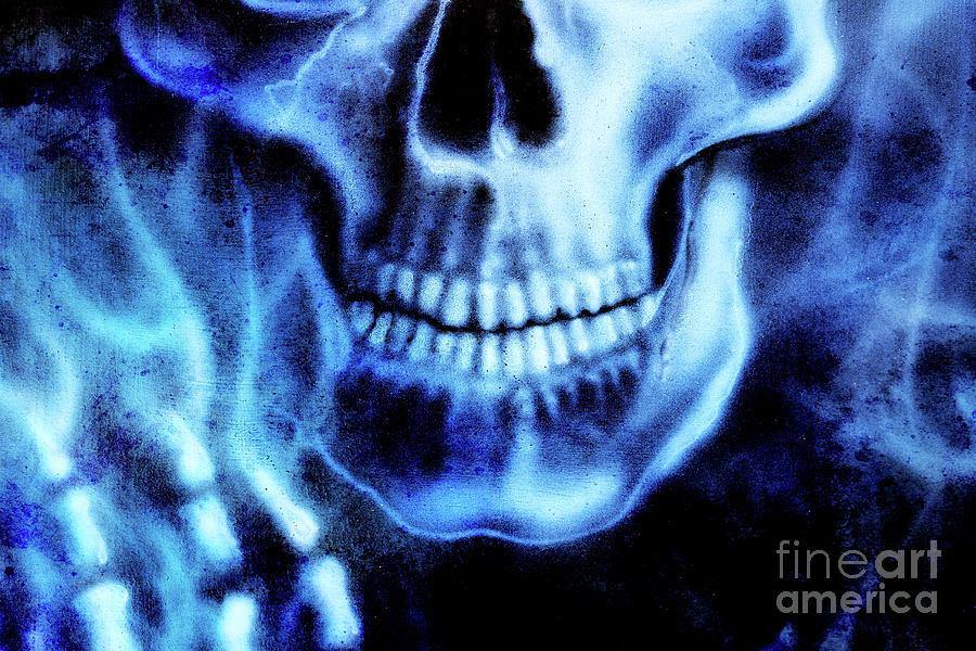 detailed skull and skeleton