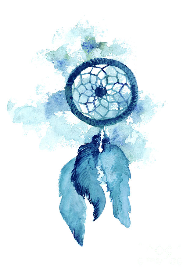 dream catcher watercolor art