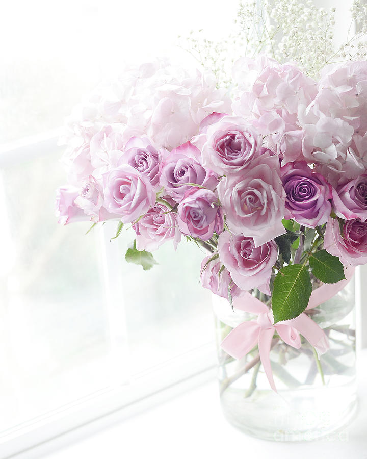 Dreamy Ethereal Pink Lavender Shabby Chic Romantic Roses