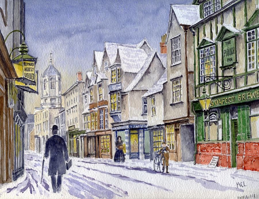 Edwardian St Aldates Oxford Uk Painting By Mike Lester