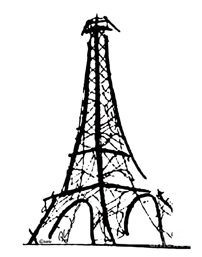 eiffel tower black and