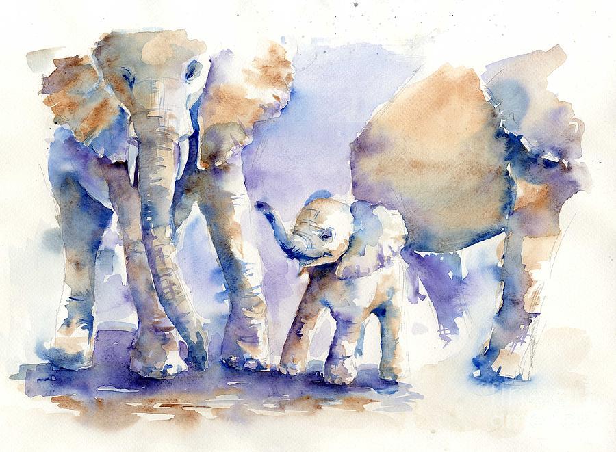 elephants by tania vasylenko
