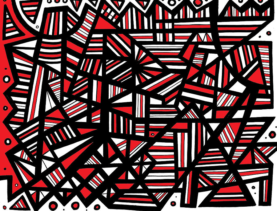 eloquence abstract art red