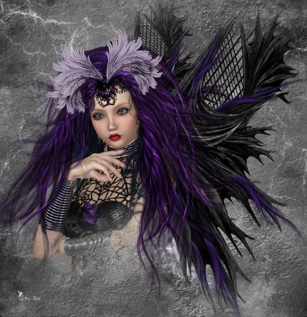 Dark Gothic Fairy Art