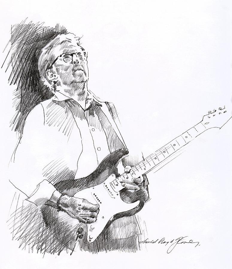 Eric Clapton Joy Drawing by David Lloyd Glover