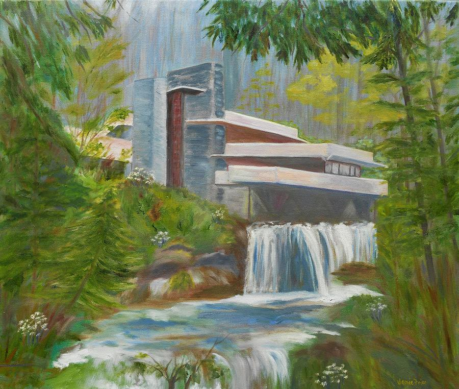 Falling Water Painting by Jamie Frier