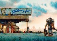 Fallout Art Print, Watercolor Print, Room Interior Wall ...