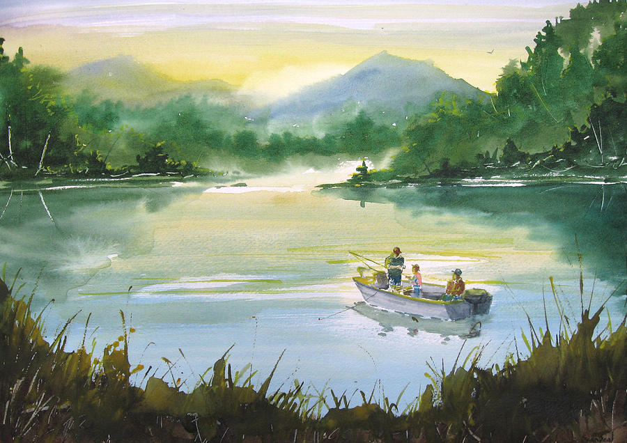 Fishing With Grandpa Painting By Sean Seal