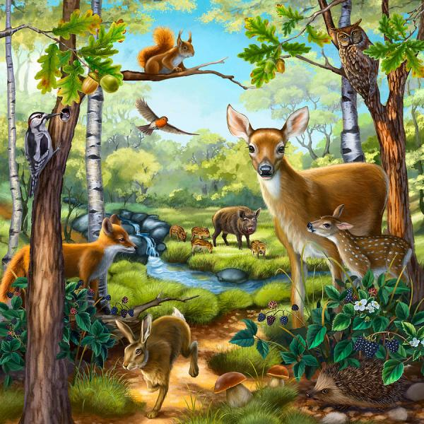Forest with Animals