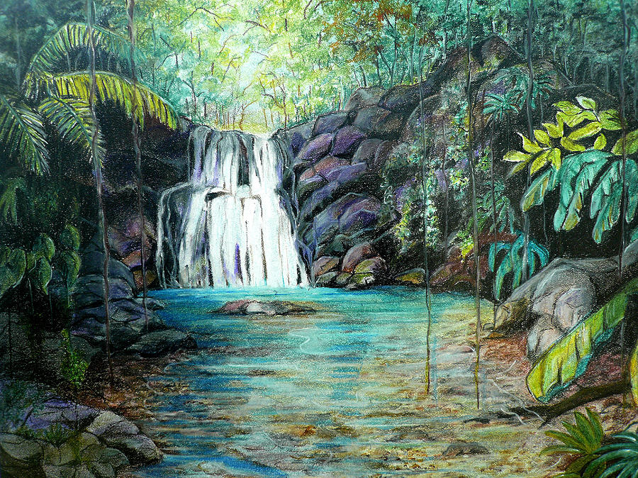 Forest Falls Pastel by Karin Dawn Kelshall Best