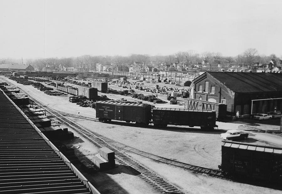 Freight Cars In Line At Iowa Railroad Car Shop Photograph By Chicago And North Western