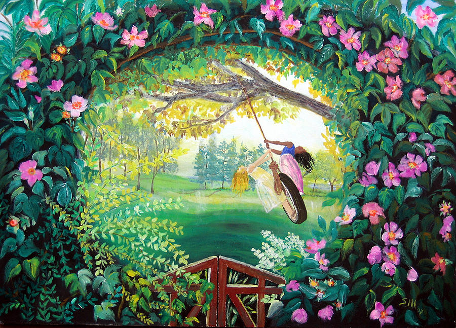 Friendship Garden Painting By Sarah Hornsby