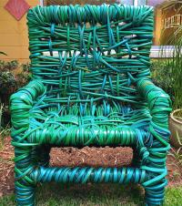 Garden Hose Chair Photograph by Denise Mazzocco
