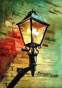 Gas Lamp Painting by Spencer Meagher