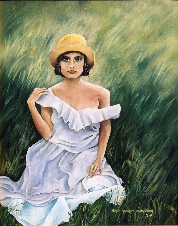 Woman In Field Painting : woman, field, painting, Field, Grass, Painting, Gayle, Hartman