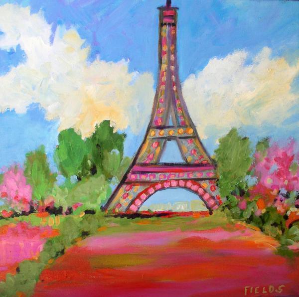 Glorious Eiffel Tower Painting Karen Fields