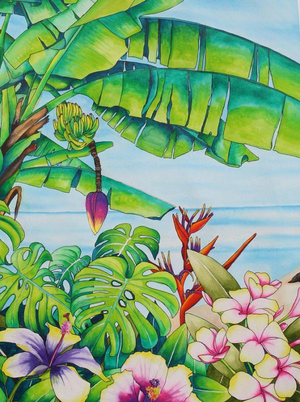 bananas in mauritius painting