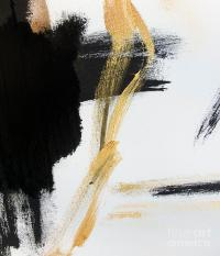 Gold Black And White Modern Abstract Painting by WALL ART ...