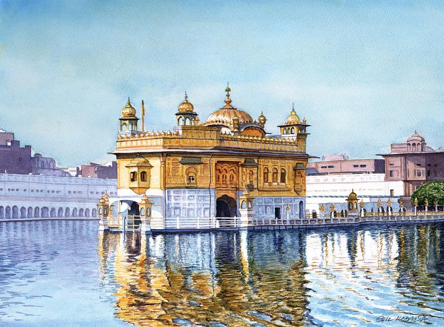 Sikh Photos Wallpaper Hd Golden Temple Iii Painting By Gurukirn Khalsa