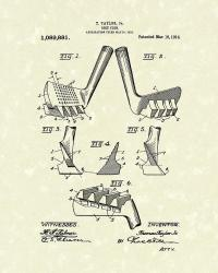 Golf Club 1914 Patent Art Drawing by Prior Art Design