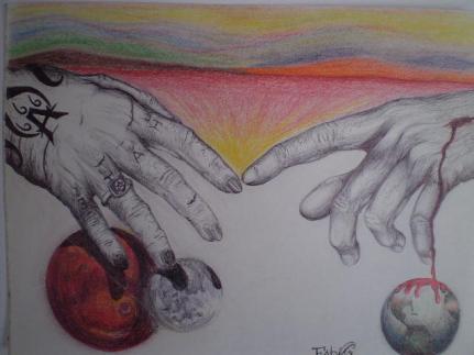 Good Vs Evil Painting by Fabio Cedeno